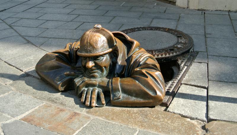 Cumil in Old town of Bratislava