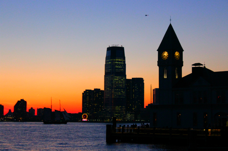 Battery Park sunset