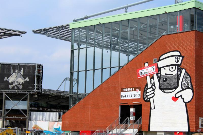 St Pauli Stadium in Hamburg