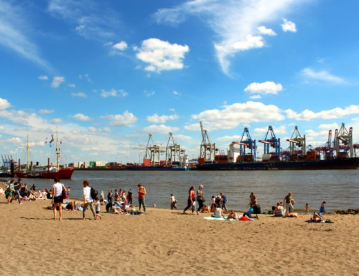 Elb beach in Hamburg