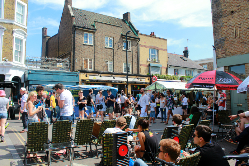 Broadway Market in London