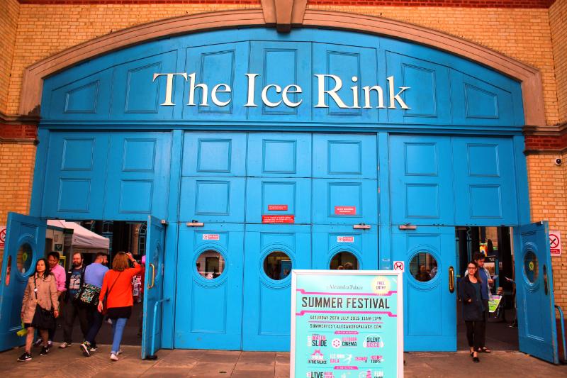 ice rink at Alexandra Palace