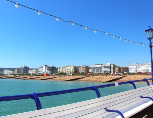 view from Eastbourne promenade