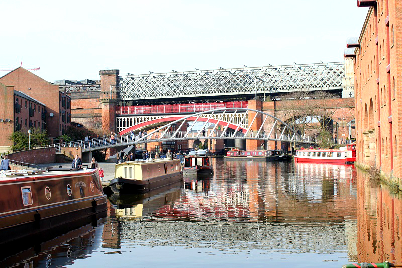 Deansgate locks in Manchester