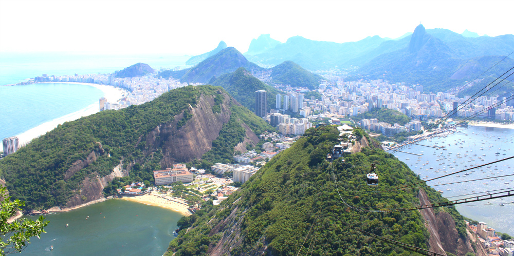 view from sugarloaf mountain in rio