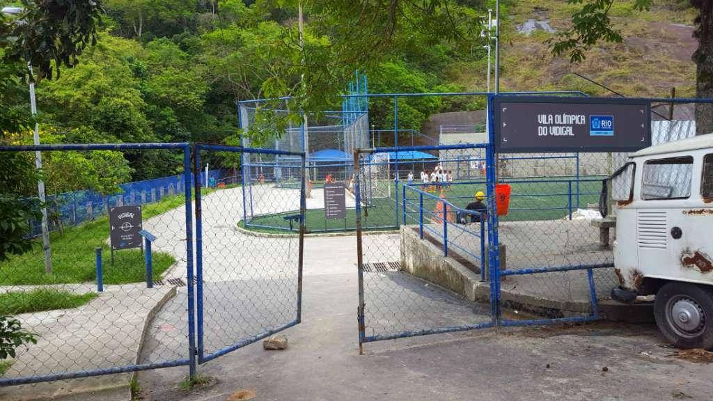Entrance to Morro Dois Irmãos