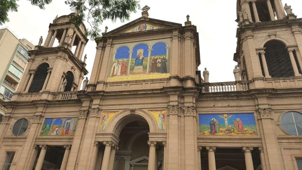 The historic centre in Porto Alegre
