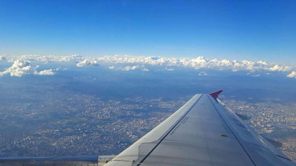 Plane view over Brazil