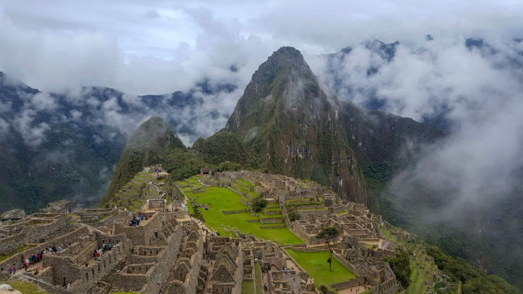 panoramic view over Machu Picchu