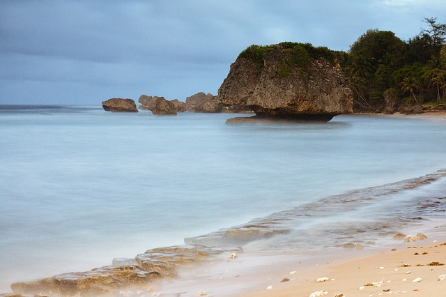 Bathsheba pools, beach view