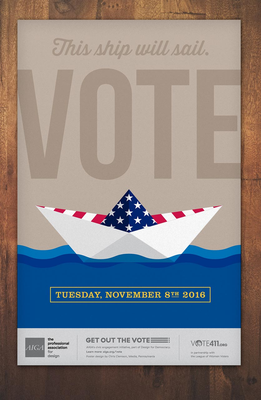 AIGA Get Out The Vote Poster Design