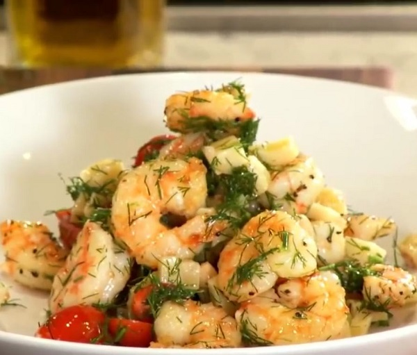 Michael Symon's Pan-Roasted Shrimp with Aged Parmesan Recipe