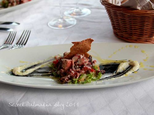 The octopus salad with a twist
