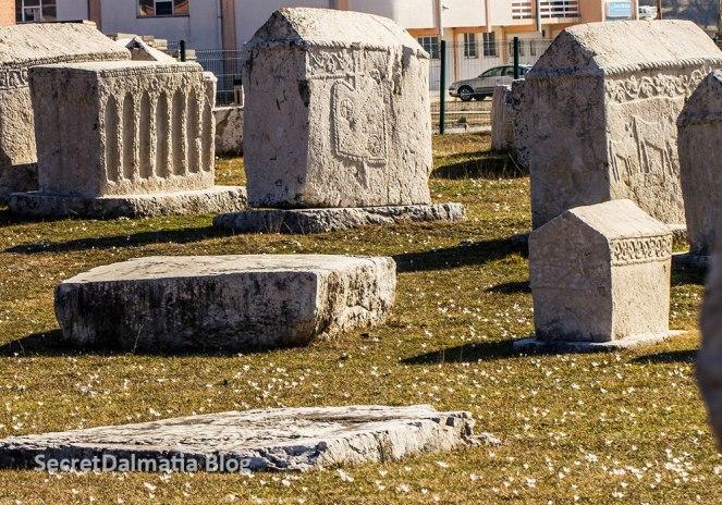 Radimlja necropolis with stecak monuments near Stolac