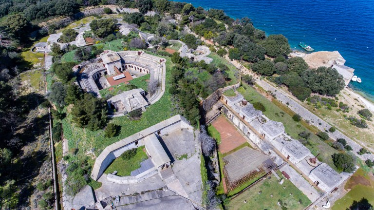 Brion Minor fortress from the air
