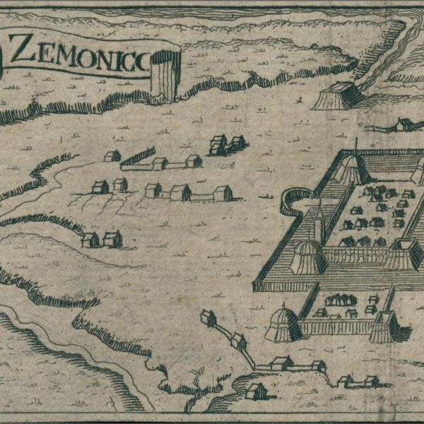 Graphic of Zemunik from 1600s