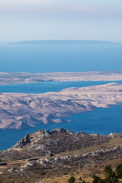 The view of Pag Island