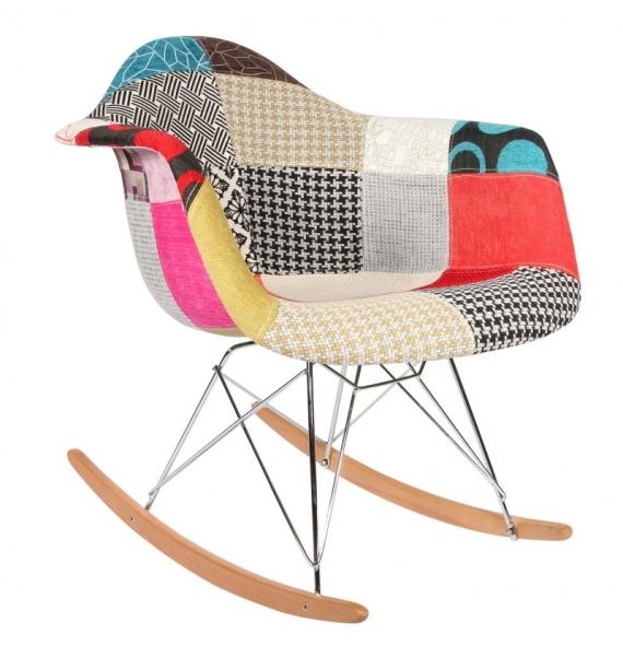 Chaise Bascule RAR Patchwork Style Eames Secret Design