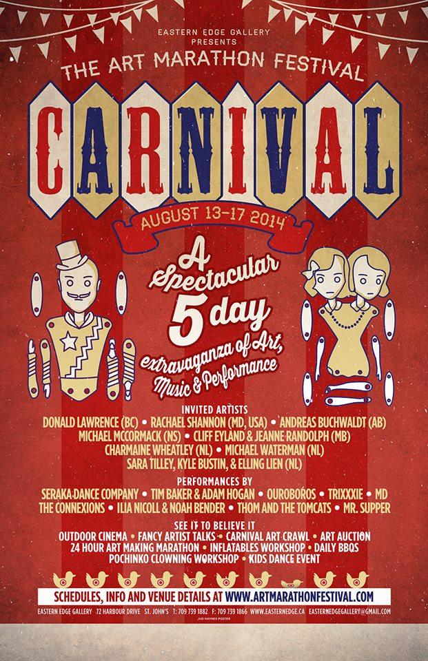 The Art Marathon Festival: Carnival, Poster Design by Jud Haynes
