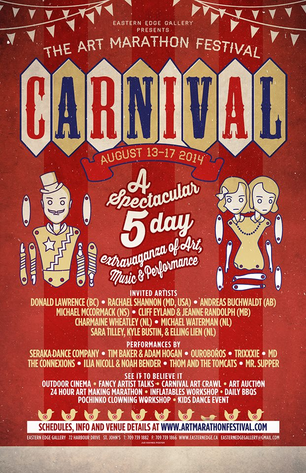 The Art Marathon Festival: Carnival, Poster Design by Jud Haynes