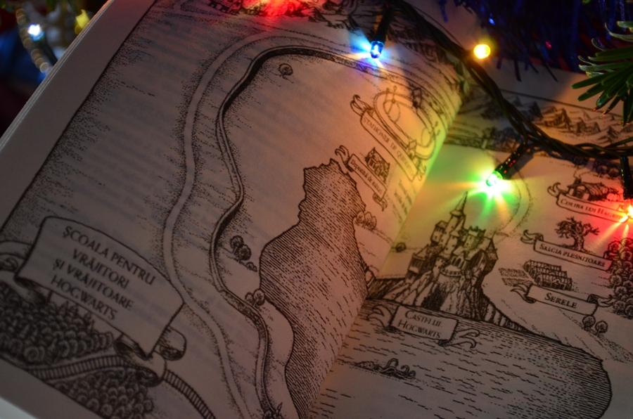 harta din cartea harry potter camera secretelor luminite craciun