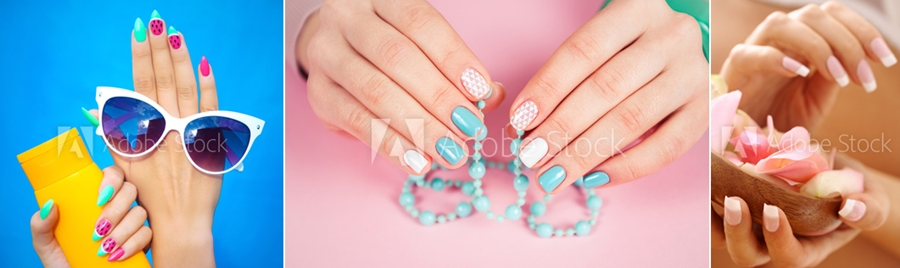 manichiura unghii gel colorate