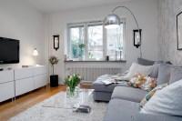 Cozy Minimalist Living Room Small Swedish Apartment ...
