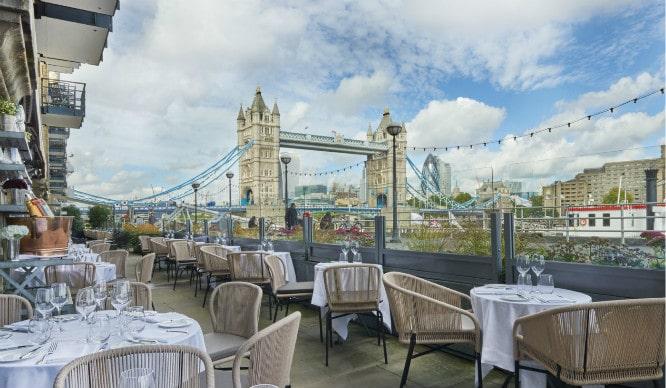 Riverside restaurants; Le Pont De La Tour