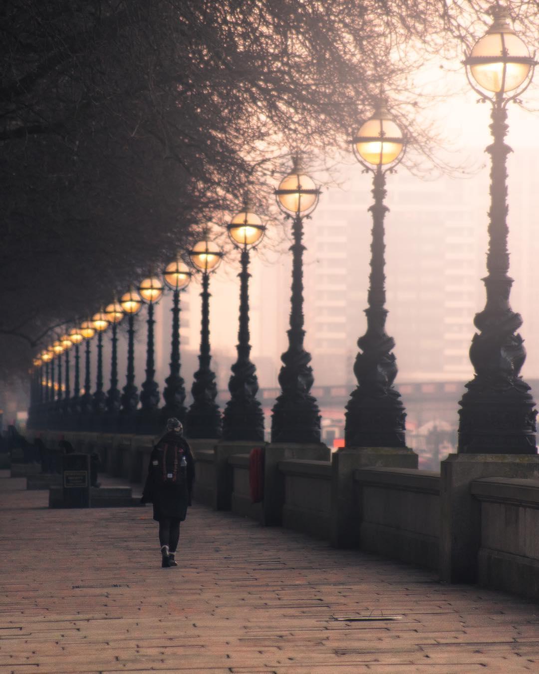 Autumn in London Thames photo.