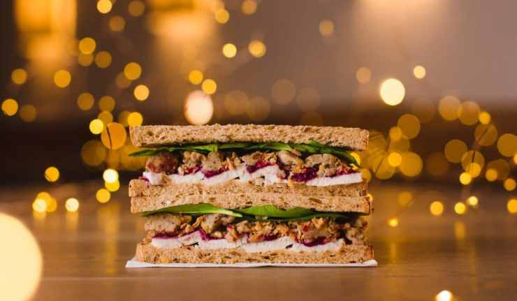 Pret Christmas Lunch Sandwich, £3.75 (Donates 50p to the PFT)