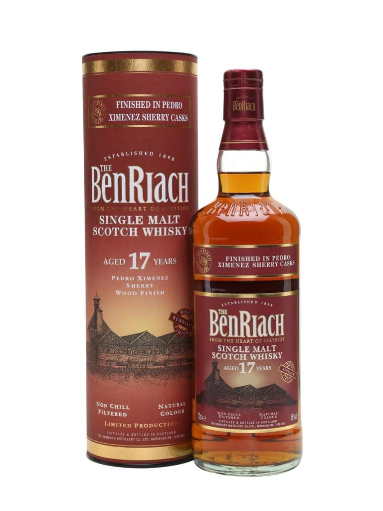 Whisky gifts - BenRiach 17-year-old Pedro Ximenez Finish