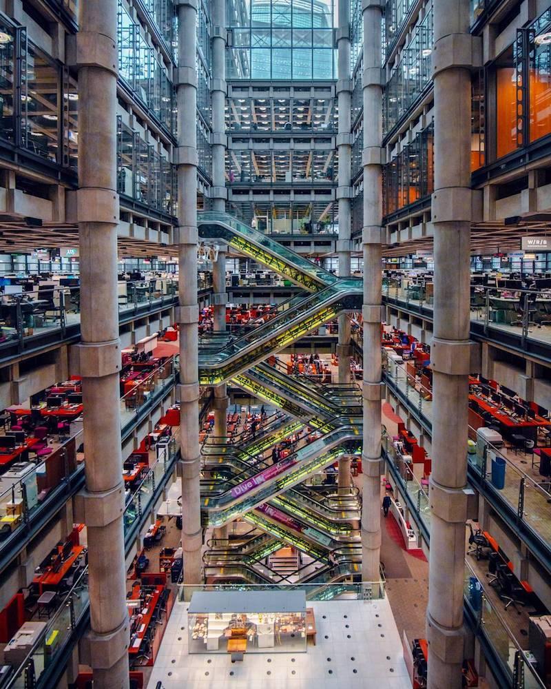 Lloyds london interior photograph
