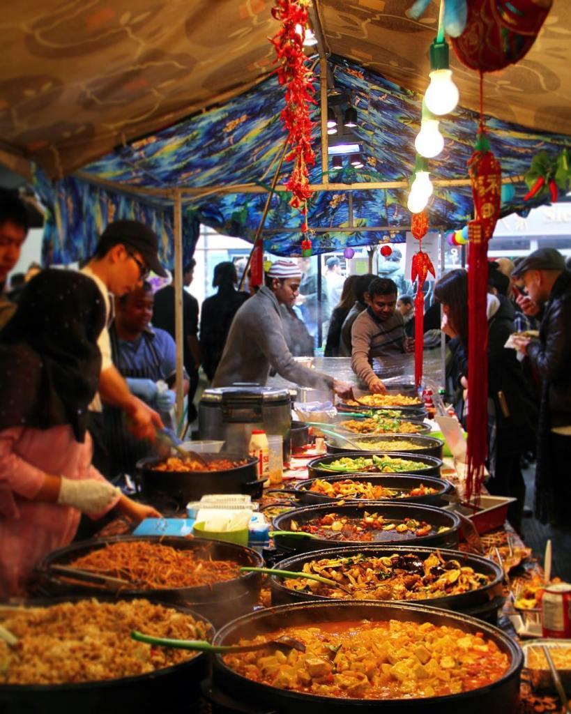 Winter night market