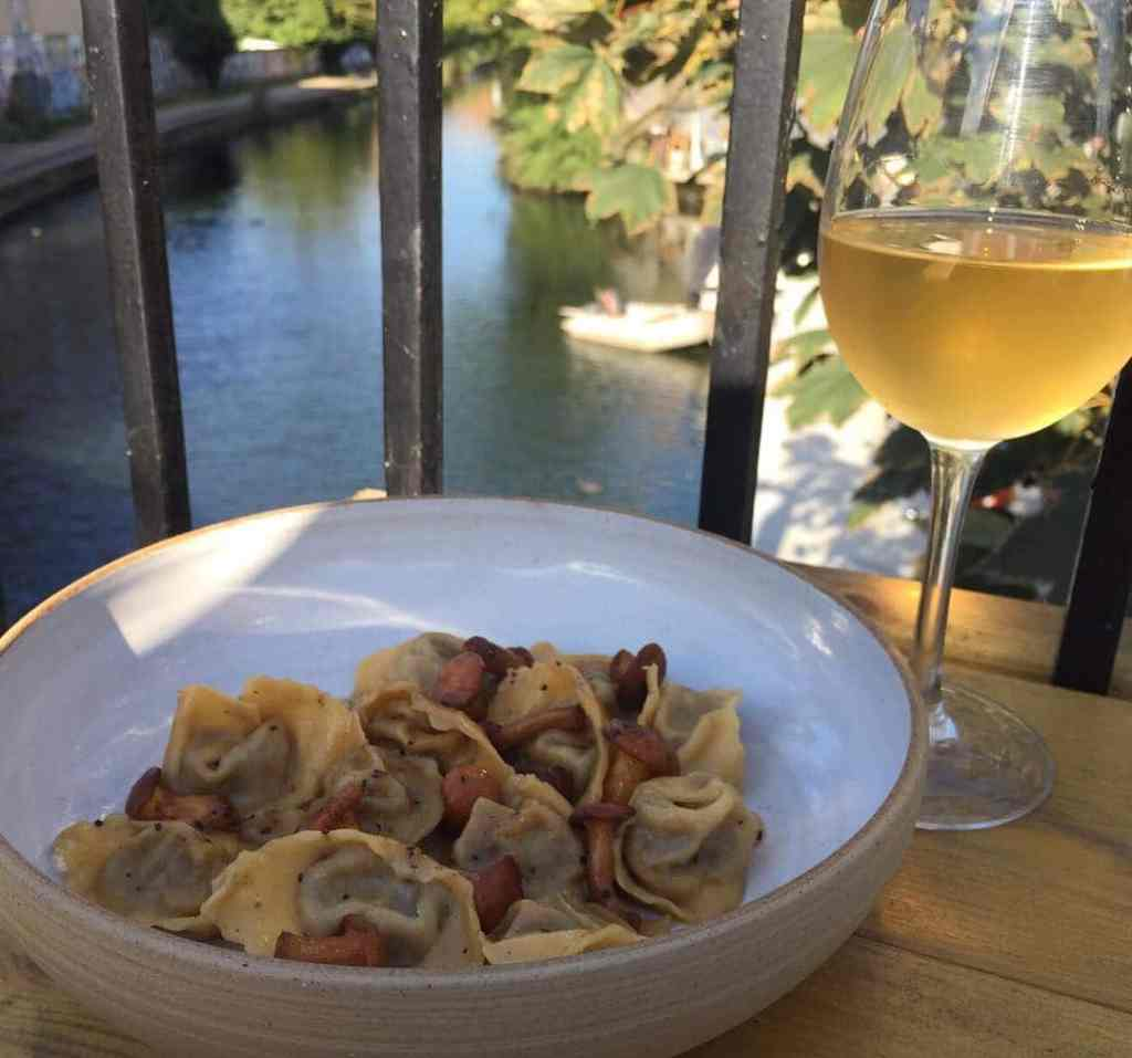Ombra canalside restaurant