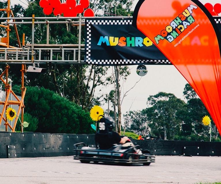 a mario kart inspired