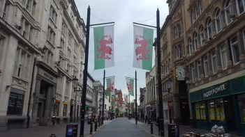 The guide told us a Welsh myth behind their flag. It involved a king, a boy, and two dragons who were battling. I'll let you guess which one came out victorious. The green and white are supposed to be inspired by the Tudor flag of Henry VII