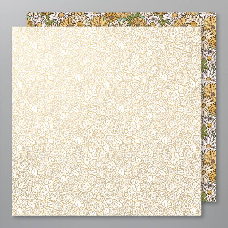 Gold Foil Ornate Garden DSP