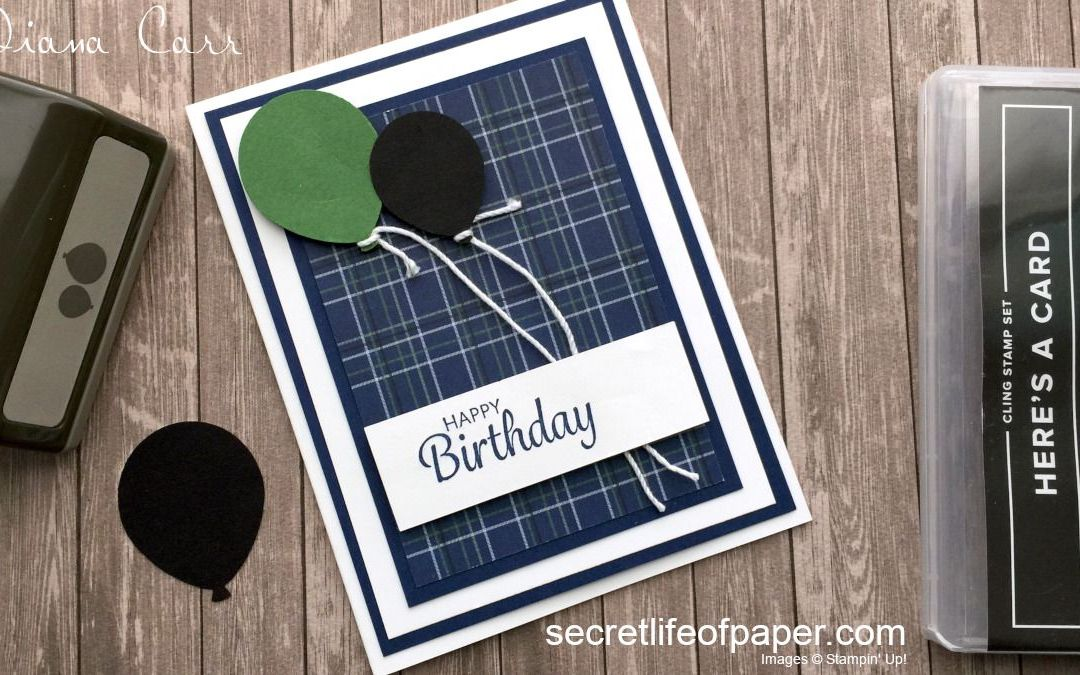 Here's A Card – Masculine Birthday