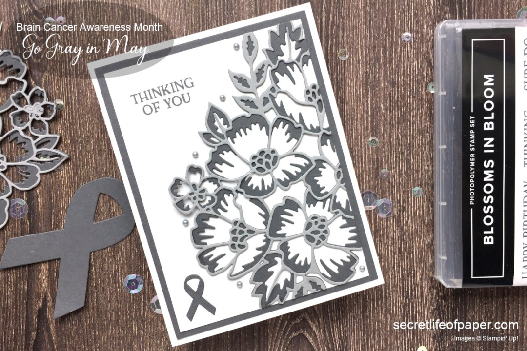 Stampin Up Blossoms in Bloom Brain Cancer Awareness