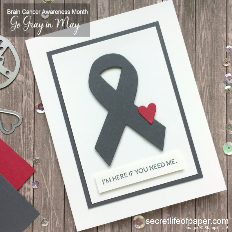 Going Gray in May for Brain Cancer Card