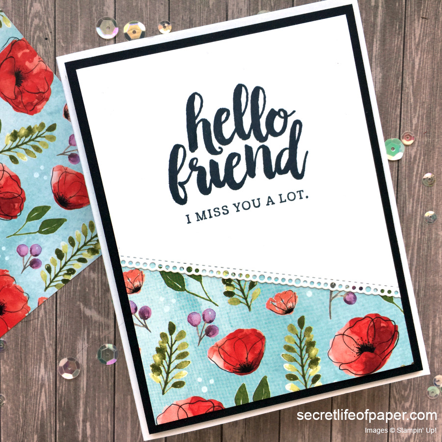 Stampin Up Seriously the Best Peaceful Poppies