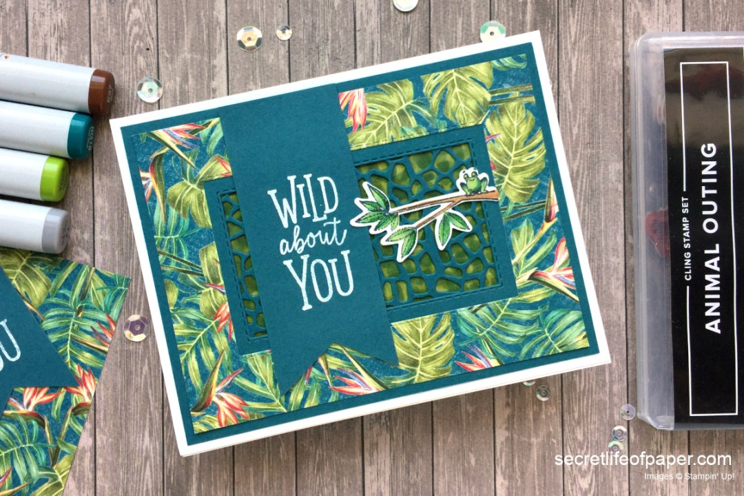 Tropical Oasis Animal Outing Card