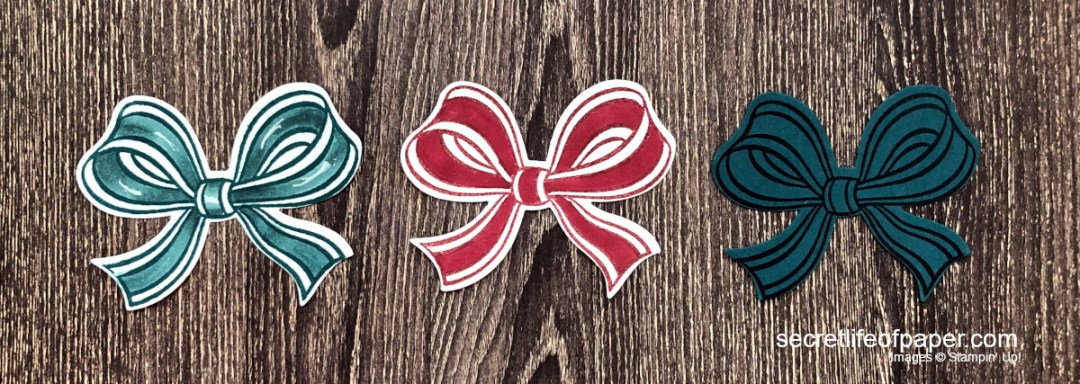 Stampin Up Gift Wrapped Bows