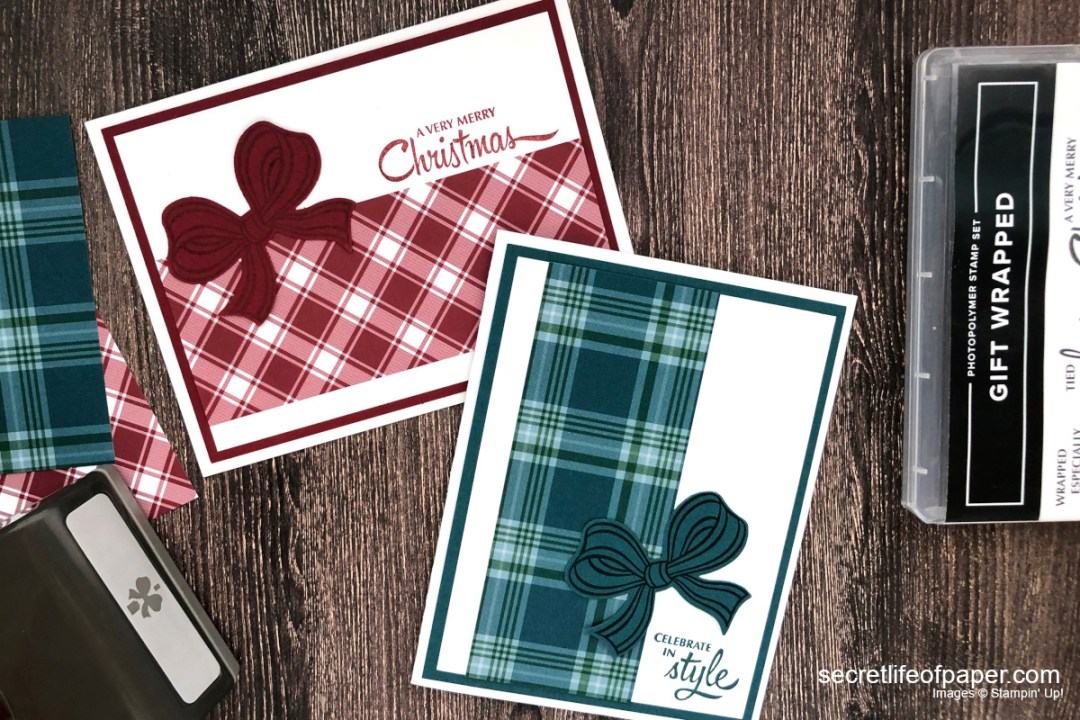Stampin Up Gift Wrapped Bundle Cards