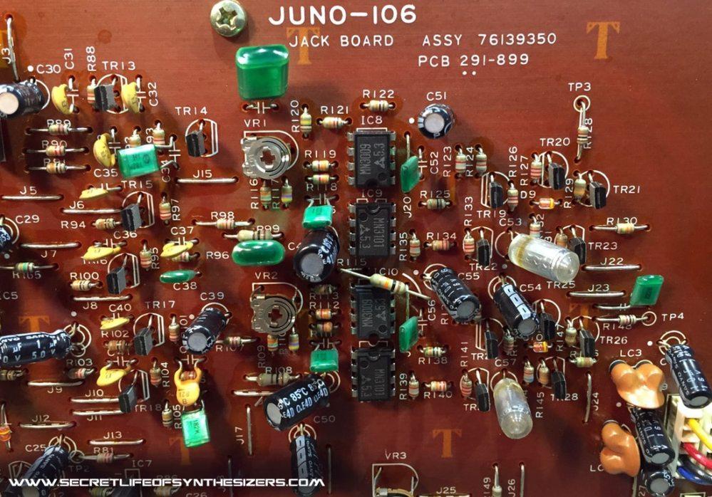 medium resolution of roland juno 106 jack board