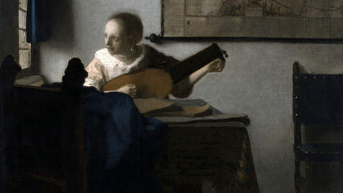 Vermeer - Woman with a lute