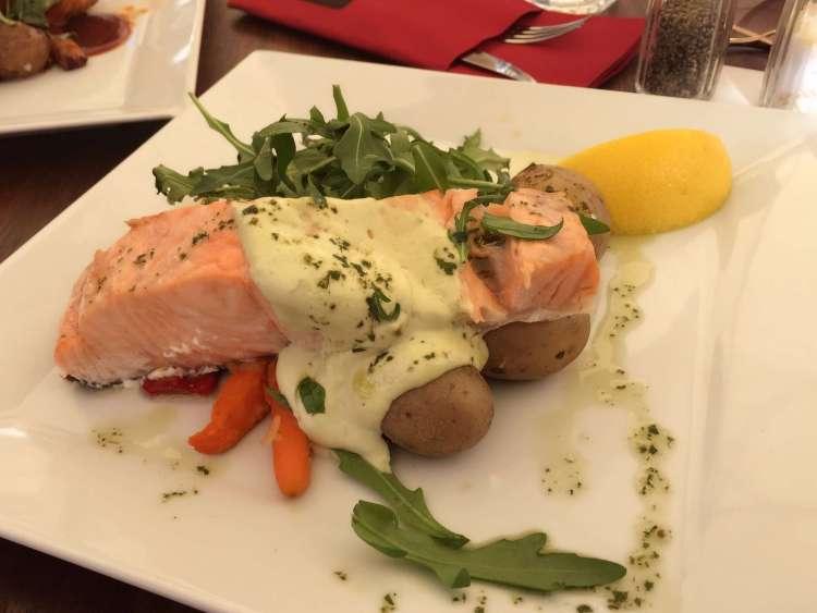 Salmon option at Victors