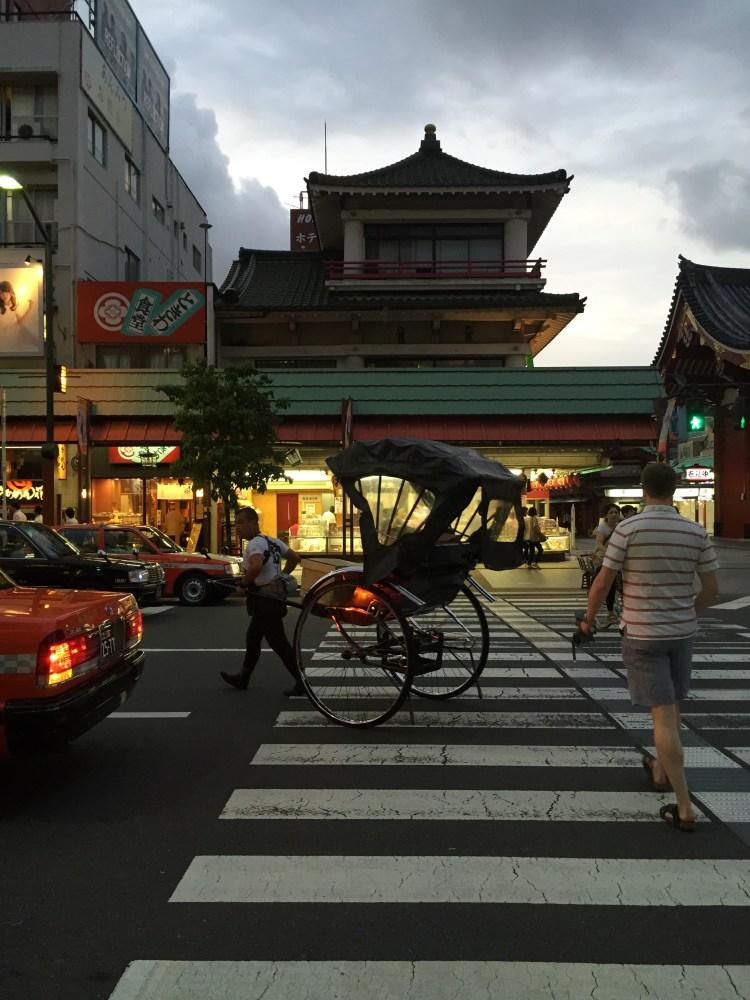 rickshaw in Asakusa