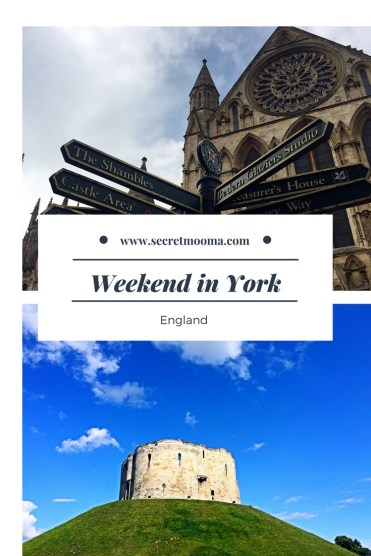 weekend in York pin