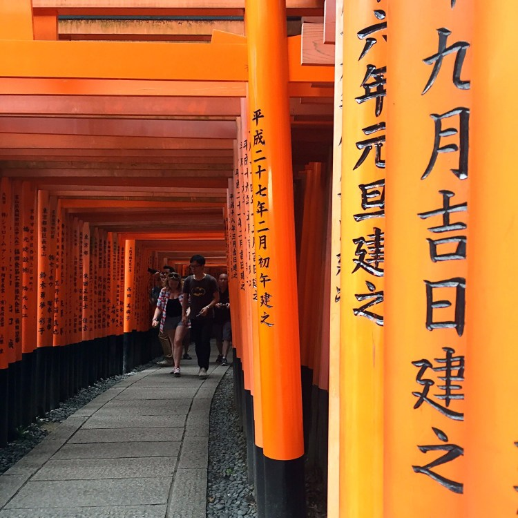 Kanji names written on gates